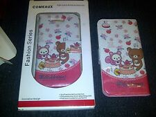 Comeaux Pink Floral Fashion Rilakkuma Case Cover For IPhone 4G S Model #1129