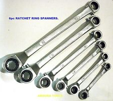 SPANNERS RATCHET RING  6pc SET (  METRIC SIZES )- HEAVY DUTY - BRAND NEW.