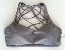 Lululemon Bra Free To Be Wild Size 6 Sport Top Heathered Slate Gray NWT