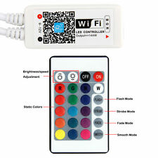 RGB LED Strip Light 24-key Smart WIFI Control IR Remote for Alexa Google Home