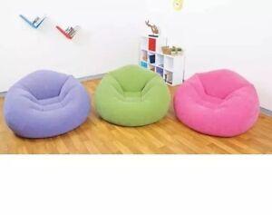 INTEX Beanless Bag Chair Sitzkissen Sitzsack Kinder SesselSack Kissen Stuhl Lila