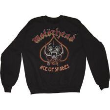 Medium Black Men's Motorhead Ace Of Spades Sweatshirt - Mens Vintage Long