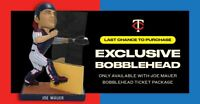 Minnesota Twins Joe Mauer Complete Bobblehead Set of 5 SGA 2019