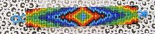 "NEW~Southwestern Hand Woven Glass Seed Bead Bracelet 1"" Wide ~NEW ~ Item #T1108"