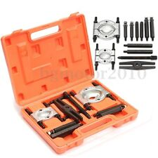 12Pcs Bearing Splitter Gear Puller Fly Wheel Separator Case Box Tool Kit Set New