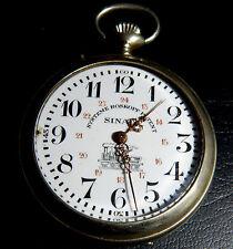 944-INDALO-Sinaia.Reloj de bolsillo Roskopf Patent de caballero Locomotora.1920