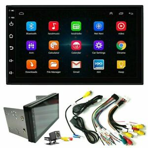 "7"" Double 2 DIN Android 9.1 Car Stereo MP5 Player GPS Nav WiFi BT USB FM Radio"