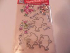 Stampendous Christmas Clear Stamps & Cutting Dies - Skating Friends -#699
