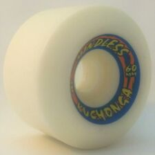"MINDLESS ""Kuchonga"" Skateboard Wheels 60mm 85a White 1980s Old skool BULLETS"