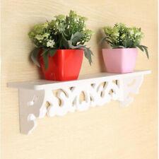 PVC Board White Carve Display Wall Shelf Rack Storage Ledge Home Decor G