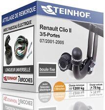 ATTELAGE fixe RENAULT CLIO II 3/5-Portes 2001-2005 + FAISC.UNIV.7-broches KIT