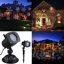Moving LED Laser Star Snowflake Christmas Light Shower Outdoor Home Garden Decor