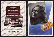 Reklame Borgward Bremen Auto Lkw Reichsautobahn Reichsbahn Mimosa Dresden 1944!!