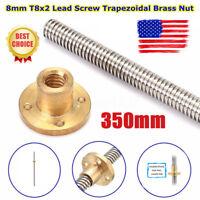8mm Acme threaded Rod trapezoidal Lead Screw+T8 Nut For CNC 3D printer Reprap US