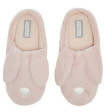 Ladies Pink Bunny Rabbit Primark Mule Slippers Boots Size 5 6 Easter Gift Fluffy