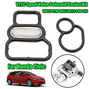 SPOOL VALVE SOLENOID FILTER GASKET KIT For HONDA CIVIC D16 D17 1996-2005 VTEC