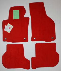 Red Lloyd 4pc Velourtex Carpet Floor Mats for 2006-2007 Volkswagen Golf