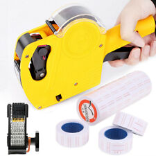 8-Digit Price Tag Gun Mx-5500 with Symbols & Numbers & Ink Plus 11-Roll Stickers