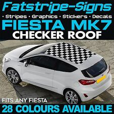 FORD FIESTA MK7 GRAPHICS CHECKER ROOF CAR STRIPES DECALS STICKERS ST ZETEC 1.6