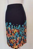 JIGSAW Navy Floral Skirt Size 12