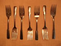 7 Dinner Forks Rogers Stainless International Silver Co Taiwan (Boston Common)