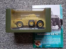 Atlas Legendäre Militärfahrzeuge Autoblindo AB 41 Italien 1942  1:43 NEU OVP