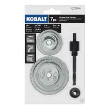 NEW Kobalt 7 pc Bi-Metal Hole Saw Set Wood/Metal/Plastic Heavy Duty # 0777741