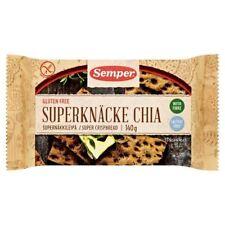 Semper Gluten Free Chia & Flax Crispbread - 140g (0.31lbs)