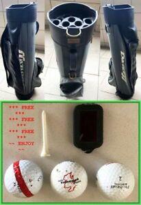 MIZUNO GOLF CART BAG BLACK GREY 14 WAY DIVIDER STRONG HANDLE LIGHTWEIGHT + FREE