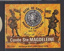 A334  Ancienne étiquette Bière France Brasserie  Denys Aubry  Anzin Garde
