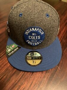 Indianapolis Colts NFL On-Field Sideline Road 59FIFTY Hat Cap 1953 Fitted 7 1/8
