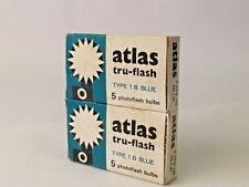 Atlas Type 1B Blue Flash Bulbs. Double Pack of Ten in Original Boxes