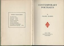 Contemporary portraits (first series) frank harris hc brentano's publishers1920