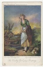 F. Wheatley RA, The Country Girl going a Reaping Tuck 2741 Postcard, A702