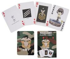 New US NAVY PLAYING CARDS Pack - Plastic American Naval Military Camouflage Game