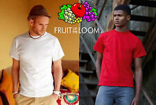LOTTO 15 pezzi FRUIT OF THE LOOM maglietta T-shirt HEAVY 195 gr. manica corta