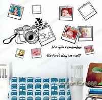 Photo Frames Wall Stickers Vinyl Decor Art Decal Paper Transparent & removable