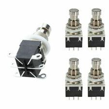 5 stk DPDT Momentary Stampfpedal Fußschalter Gitarreneffekt Taster Effektpedal