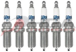 Genuine GM ACDelco RAPIDFIRE Platinum Spark Plugs #21 Set Of 6