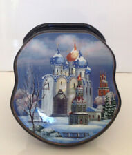 """RUSSIAN  FEDOSKINO STYLE  LACQUER BOX """"THE HOLY TRINITY-ST.SERGIUS LAVRA """""""