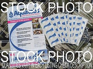 AQUATABS WATER PURIFICATION TABLETS-Emergency Water Insurance-NEW EXP DATE 10/24