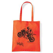 Art T-shirt, Borsa shoulder Valentino Rossi Firma, Arancio, Shopper, Mare