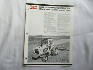 Case 1270 agri king tractor brochure