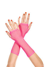 Goth Punk Rock Rave Fishnet Diamond Net Fingerless Gloves Costume Arm Warmers