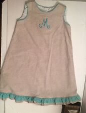 Three Little Monkeys Sz 6X Monogrammed M Dress