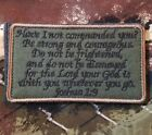 JOSHUA 1:9 ARMY COMBAT INFIDEL USA VELCRO® BRAND FASTENER FOREST BADGE PATCH