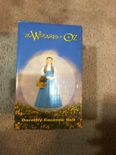 Wizard of Oz Rare Warner Bros.Store 1998 Dorothy Ceramic Bell New