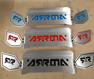 Arrma Kraton 6S Rear Wing.Very Lightweight.- BLUE ENGRAVING - MADE IN USA