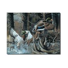 Ducks Unlimited Beaver Pond Tin Sign Official Hunting Lodge Man Cave Tavern Gift