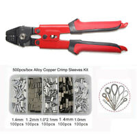 High Carbon Steel Fishing Plier Crimper Wire Rope Swager & Crimping Sleeves Kit